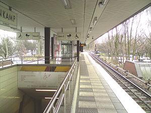 Lattenkamp (Hamburg U-Bahn station) - Image: U Bahnhof Lattenkamp in Hamburg Winterhude 1