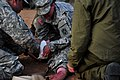 U.S. Army and Israeli Defense Forces medics care for a mock victim during an emergency response exercise as part of Austere Challenge 2012 in Beit Ezra, Israel 121022-F-QW942-061.jpg