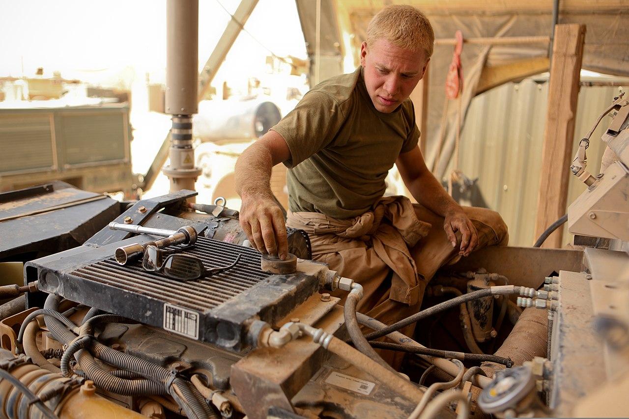 File:U.S. Marine Corps Lance Cpl. Daniel Korb, a motor transport ...