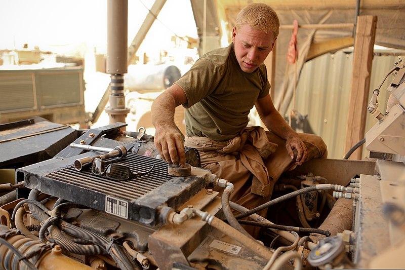 file u s  marine corps lance cpl  daniel korb  a motor transport mechanic with 3rd battalion