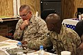U.S. Marine Corps Sgt. Maj. Bryan B. Battaglia, left, the senior enlisted adviser to the Chairman of the Joint Chiefs of Staff, and Army Brig. Gen. Ronald Lewis, the 101st Airborne Division's deputy commanding 130504-A-CL397-068.jpg