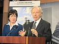 U.S. Senate Homeland Security and Governmental Affairs Committee Chairman Joe Lieberman and Ranking Member Susan Collins address bipartisan suggestion on countermeasures toward domestic terrorism.jpg