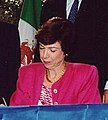 U.S. Trade Representative Carla A. Hills, at the initialing ceremony for the North American Free Trade Agreement in San Antonio, TX, October 7..jpg