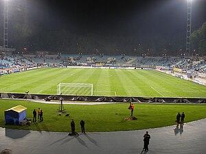 Valeriy Lobanovskyi Dynamo Stadium - Image: UEFA Cup Semifinal in Kiev (DK vs SD) 192
