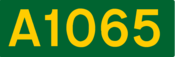 A1065 road shield