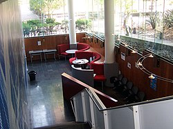 Inside the K17 building, which houses the School of Computer Science and Engineering