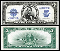 $5 Silver Certificate, Series 1923, Fr.282, depicting Abraham Lincoln