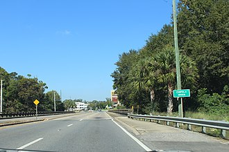 Chipola River - Chipola River crossing on US90/FL10 in Jackson County