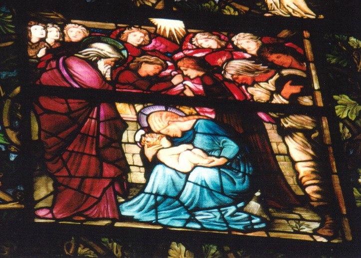 USA Massachusetts Boston Trinity-Nativity-detail-2