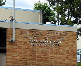 West Slope, Oregon - Post office in West Slope