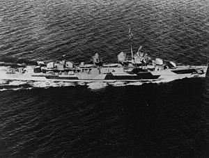 USS Gregory (DD-802) underway in Puget Sound, Washington (USA), on 11 August 1944 (BS 70254)