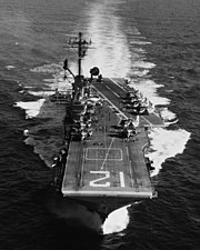 USS Hornet (CVS-12) underway at sea on 9 August 1968 (USN 1116887)