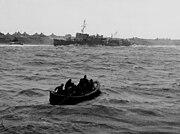 USS Hulbert (AVD-6) stranded on Attu 1943