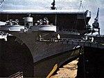 USS Kearsarge (CVA-33) bow view in dry dock 1953.jpg