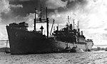 USS Tangier (AV-8) at anchor at Seeadler Harbor, in July 1944 (NH 50132).jpg
