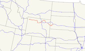 U.S. Route 16 - Image: US 16 map