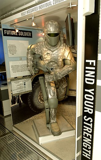 "Powered exoskeleton - The exhibit ""future soldier"", designed by the United States Army"