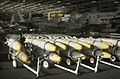US Navy 030323-N-4142G-042 Bunker Buster bombs are staged in the hangar bay aboard USS Constellation (CV 64).jpg