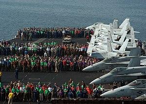 Foreign object damage - A foreign object damage walk down aboard the aircraft carrier USS ''John F. Kennedy'' (CV 67).