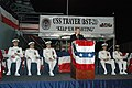 US Navy 070618-N-8848T-002 Rep. Mark Kirk, 10th Illinois Congressional District, gives a speech at the commissioning ceremony for USS Trayer (BST 21), the Navy's newest simulator. Trayer, along with Battle Stations 21, is the c.jpg