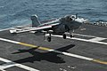 US Navy 090929-N-3038W-149 An EA-6B Prowler assigned to the Black Ravens of Tactical Electronic Attack Squadron (VAQ) 135 lands aboard the aircraft carrier USS Nimitz (CVN 68).jpg