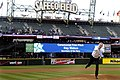 US Navy 100413-N-5549O-193 Secretary of the Navy (SECNAV) the Honorable Ray Mabus throws out the ceremonial first pitch before a Major League Baseball game between the Seattle Mariners and the Oakland A's.jpg