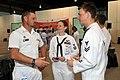 US Navy 110519-N-SF508-052 U.S. Sailors speak to a member of the Australian navy.jpg