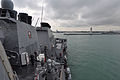 US Navy 110521-N-SF508-057 The Arleigh Burke-class guided-missile destroyer USS McCampbell (DDG 85) departs Changi Naval Base following a five-day.jpg