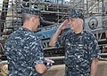 US Navy 110629-N-GW670-014 Rear Adm. Joseph F. Campbell accepts authority of USS Philadelphia (SSN 690) for completion of the final stages of its a.jpg