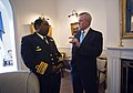 US Navy 110812-M-UH963-206 Secretary of the Navy (SECNAV) the Honorable Ray Mabus visits with the Chief of the South African Navy Vice Adm. Johanne.jpg