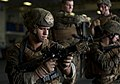 US Navy 111202-N-DX615-029 Marine Sgt. Alex Sanchez, assigned to the 11th Marine Expeditionary Unit (11th MEU), practices weapon malfunction drills.jpg