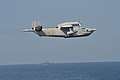 Ukrainian navy Beriev Be-12 flies over the Arleigh Burke-class guided-missile destroyer USS Ross (DDG 71) during exercise Sea Breeze 2014 (26677814830).jpg