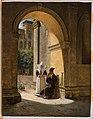 Un soldat soigné par une religieuse dans un cloître, 1822.jpg
