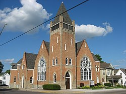 United Methodist Church, Mechanicsburg, blue sky.jpg