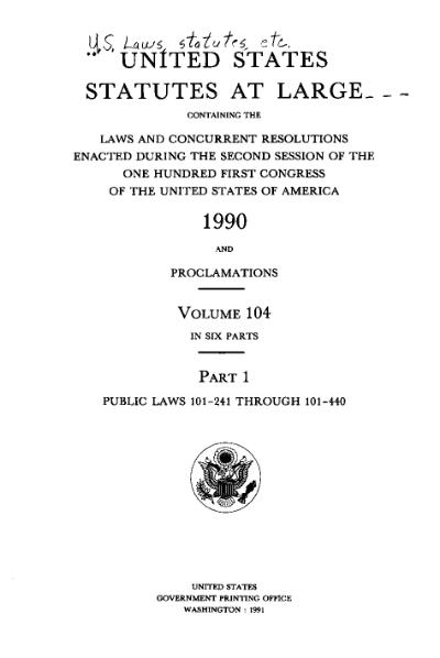 File:United States Statutes at Large Volume 104 Part 1.djvu