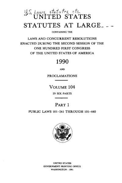 File:United States Statutes at Large Volume 104 Part 1.djvu