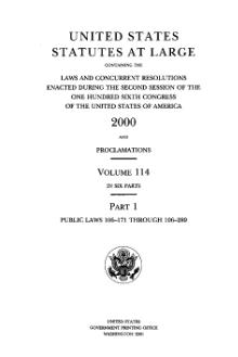 United States Statutes at Large Volume 114 Part 1.djvu