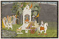 Unknown Indian - Krishna Abducting Rukmani from the Temple - Google Art Project.jpg