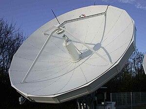 Land earth station - Land earth station, here: aerial for feeder link'' (uplink)