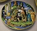 Urbino, francesco xanto avelli, scodella con anfiarao tradito dalla moglie, 1533.JPG