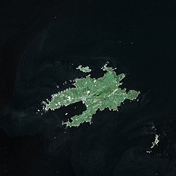 Satellite image of Ushant in 2003