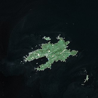 Ushant - Satellite image of Ushant in 2003
