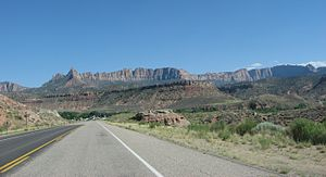 Utah State Route 9 - Scenic SR-9 on the west side of Zion National Park