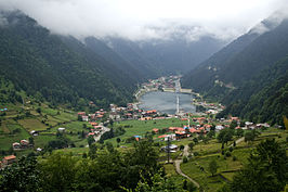 Uzungöl lake and town.jpg