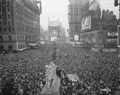 V-J Day in New York City. Crowds gather in Times Square to celebrate the surrender of Japan. - NARA - 531350.tif