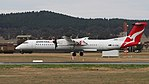VH-QOM about to land at Canberra Airport October 2017.jpg