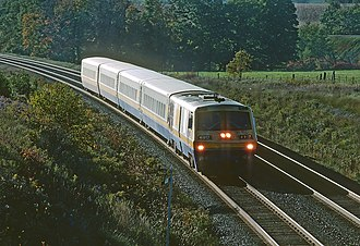 LRC (train) - Image: VIA 6917 at Newtonville, ON on October 5, 1987 (22815421456)