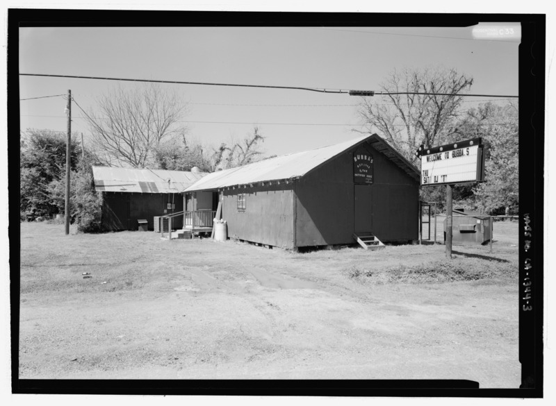 File:VIEW LOOKING FROM THE EAST - Bubba's Juke Joint, 3410 Louisiana State Highway 484, Natchez, Natchitoches Parish, LA HABS LA-1344-3.tif
