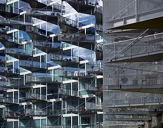 Julien De Smedt - VM housing in Ørestad, Denmark, by Julien de Smedt and Bjarke Ingels