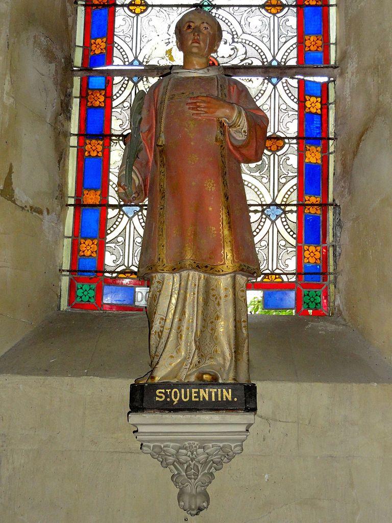 file valmondois 95 glise saint quentin statue du patron de l 39 glise jpg wikimedia commons. Black Bedroom Furniture Sets. Home Design Ideas